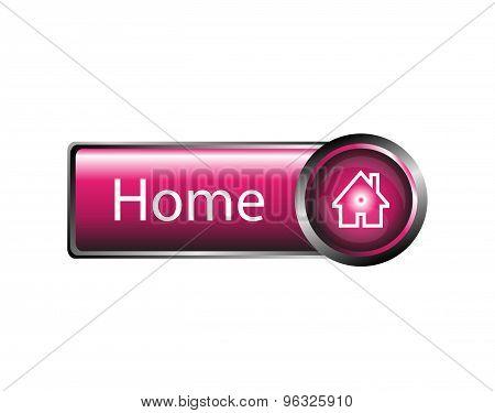 Home button design element vector