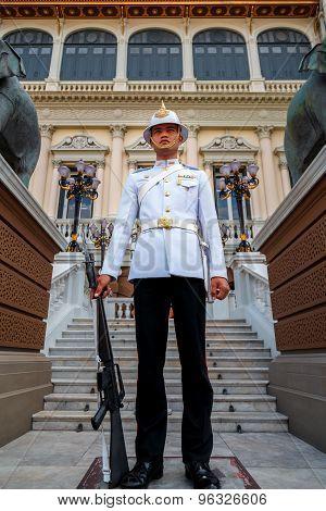 Thai Royal Guard at the Grand Palace in Bangkok