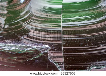 chipped welding glass