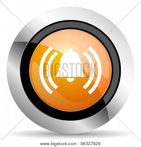 alarm orange icon alert sign bell symbol