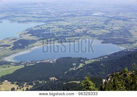 Bavarian Lake Bannwaldsee From Above