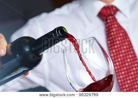 man with wine