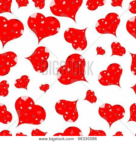 Multi-colored Hearts On A Light Background.seamless.vector
