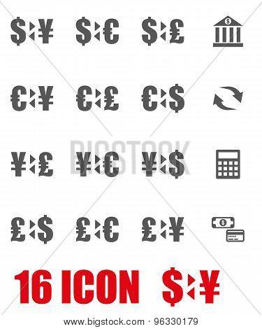 Vector Grey Bank Icon Set