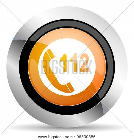 emergency call orange icon 112 call sign