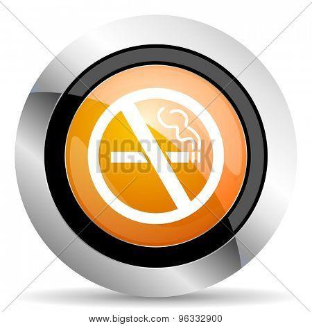 no smoking orange icon