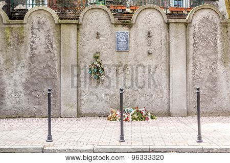 Jewish Ghetto Wall, Krakow, Poland