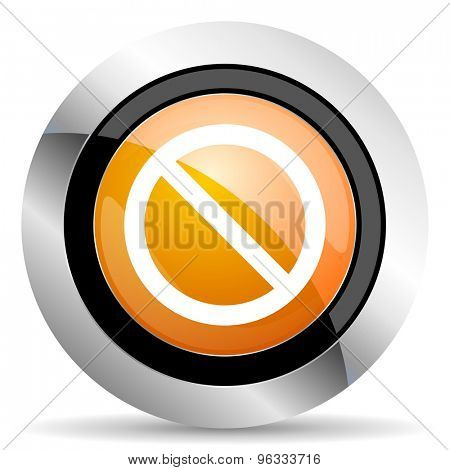 access denied orange icon