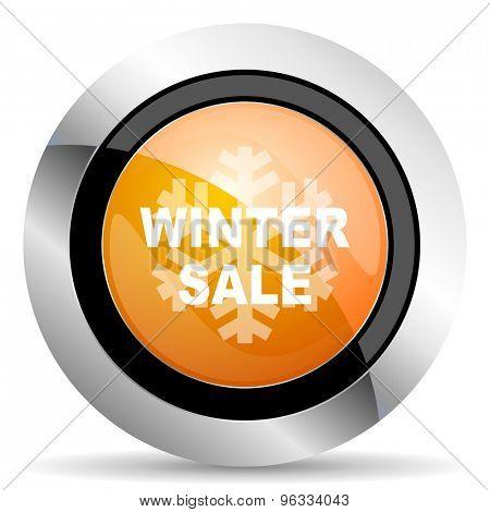 winter sale orange icon