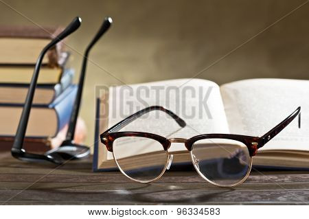 Eyeglasses With Books