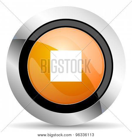 stop orange icon