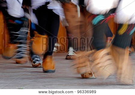 Abstract Blurred Motion Feet Of Dancers 1