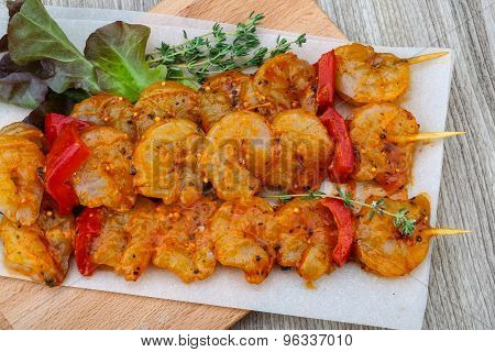 Raw Prawn Skewer