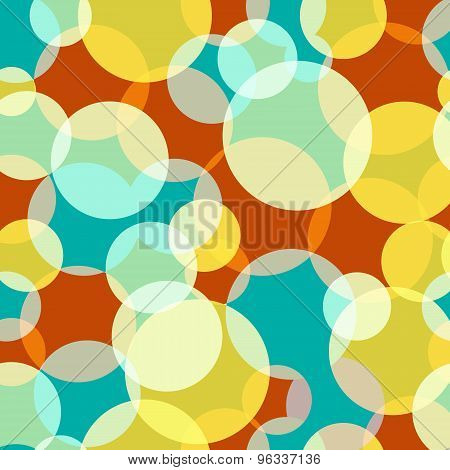 Colorful Abstract Bubbles.seamless Pattern.vector