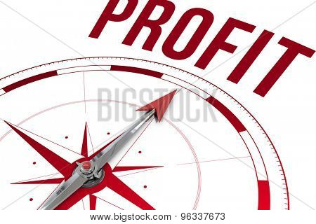 The word profit against compass