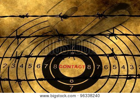 Web Contact Concept Against Barbwire