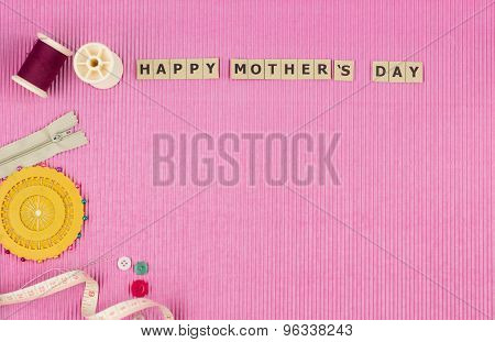 Top View Of Mothers Day Background