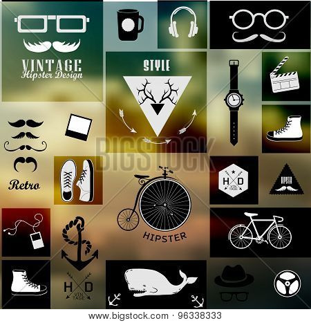 Hipster style info graphic element