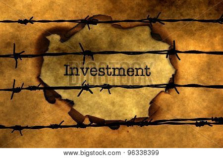 Investment Concept Against Barbwire