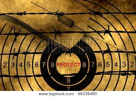 Web Protect Target Against Barbwire