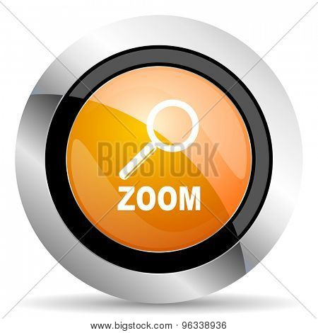 zoom orange icon