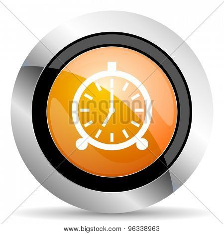 alarm orange icon alarm clock sign
