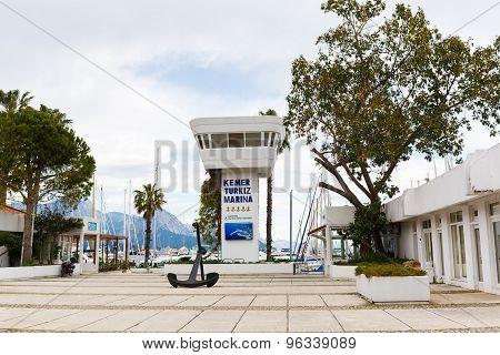 The Main Entrance In Marina Bay Of Kemer