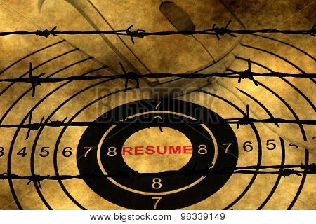 Resume Target Against Barbwire
