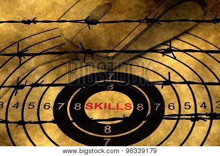 Skills Target Against Barbwire