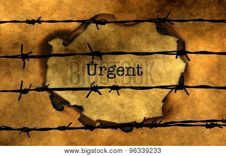 Urgent Concept Against Barbwire