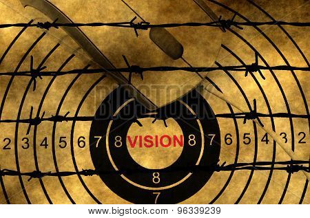 Vision Target Concept Against Barbwire