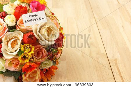 Mother's Day Wood Background