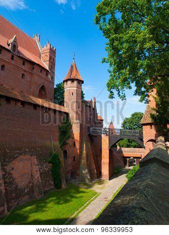 Entrance bridge od Malbork Castle
