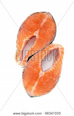 Isolated Salmon Steakes