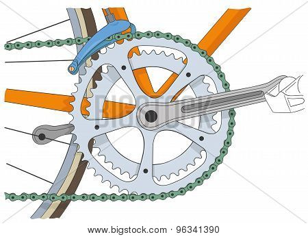 Cool vinatage bicycle illustration