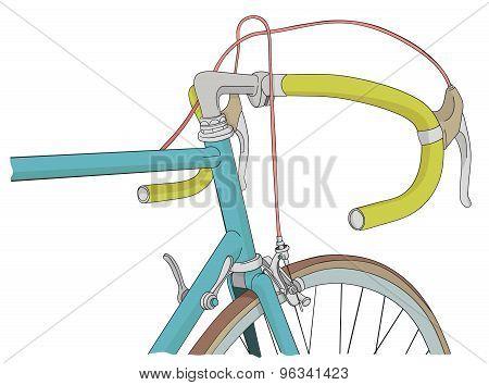 Cool vinatage bicycle illustration
