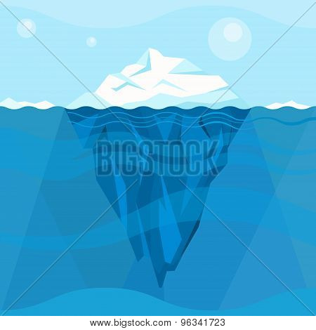 Full Big Iceberg in the Sea