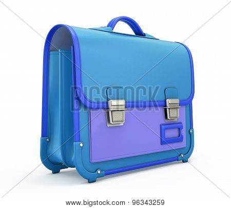 School Briefcase With A Lock Isolated Isolated On White Background. 3D Render Image.