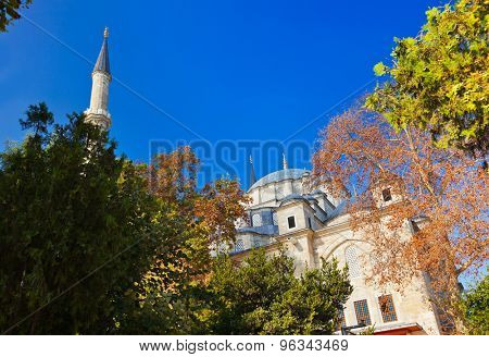 Fatih mosque in Istanbul Turkey - architecture religion background