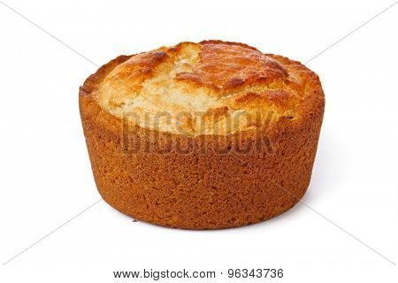 Cake with raisin isolated on white background
