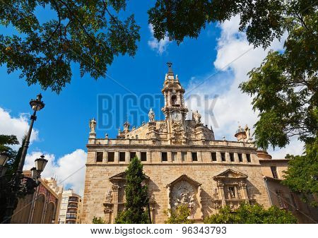 Cathedral at Valencia Spain - architecture background