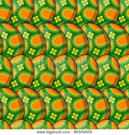 Egg Floral Curl Pattern