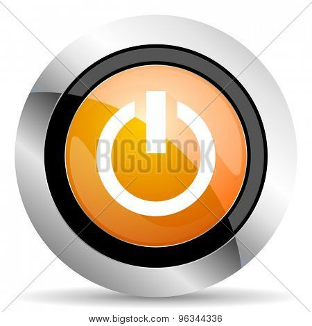 power orange icon on off sign