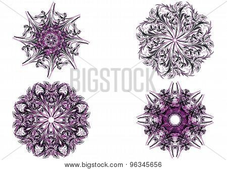 Decorative floral pattern motif, easy to edit color the vector eps file.
