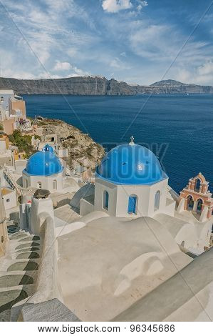 Santorini Oia Church Caldera View