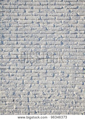 Abstract texture stained stucco light gray and aged paint white brick wall background