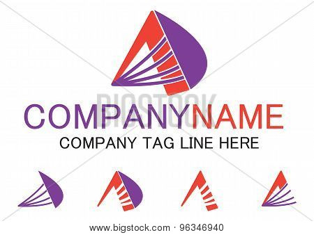 Letter A business logo, vector file easy to edit.