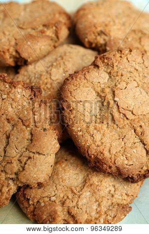 Homemade cookies close up