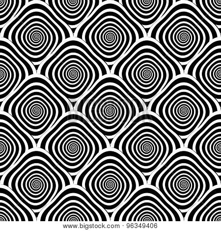 Design Seamless Monochrome Twirl Pattern