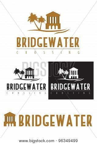 A logo icon of a bridge over water.